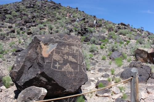 Petroglyph at the trail entrance
