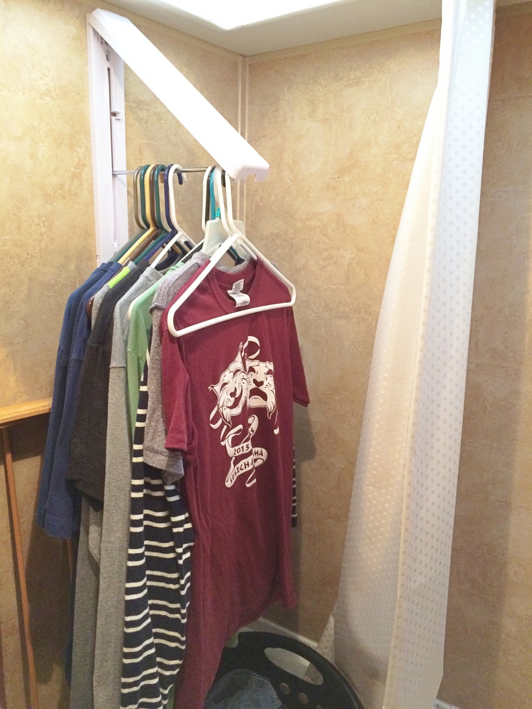 Rv Shower To Closet Mod Travels With Birdy