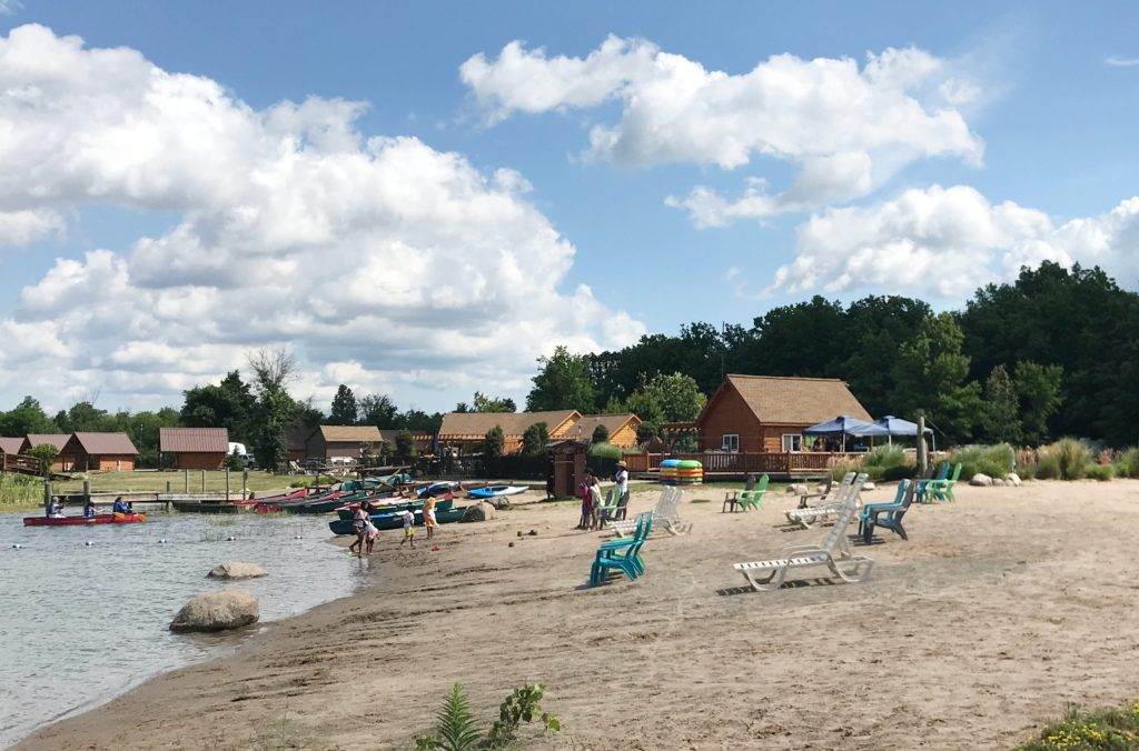 the swim beach at Branches of Niagara campground